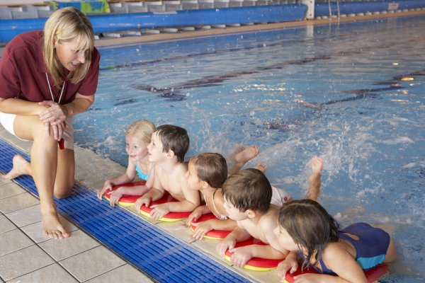 depositphotos 61027749 stock photo children having swimming lesson